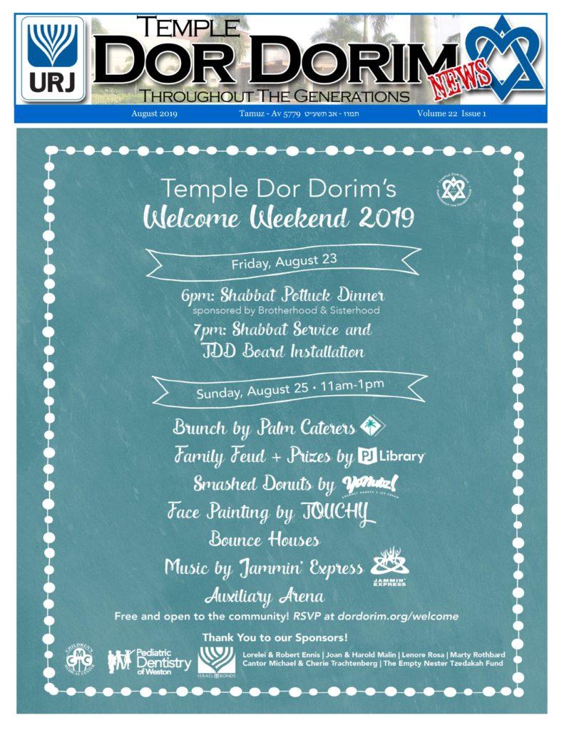 Newsletters - Temple Dor Dorim
